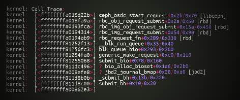 Ceph: collect Kernel RBD logs